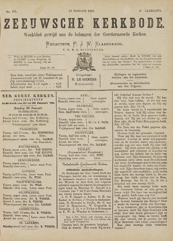 Zeeuwsche kerkbode, weekblad gewijd aan de belangen der gereformeerde kerken/ Zeeuwsch kerkblad 1889-01-19