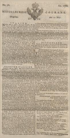 Middelburgsche Courant 1768-05-10
