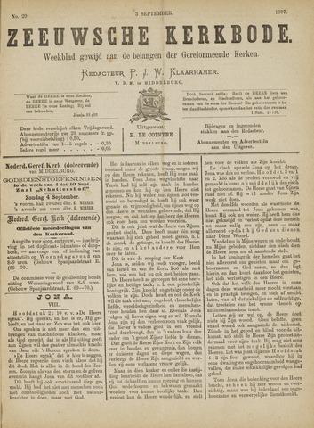 Zeeuwsche kerkbode, weekblad gewijd aan de belangen der gereformeerde kerken/ Zeeuwsch kerkblad 1887-09-03