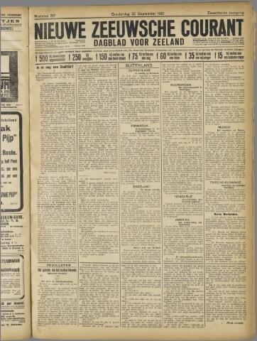 Nieuwe Zeeuwsche Courant 1921-09-22