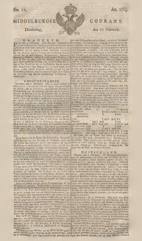 Middelburgsche Courant 1763-02-17