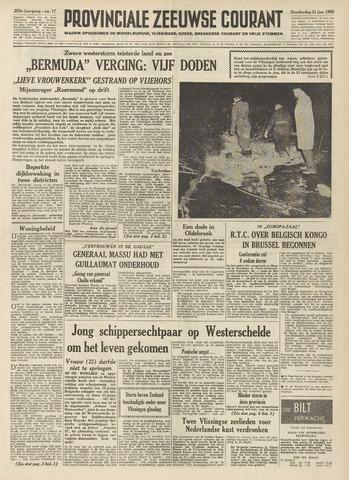 Provinciale Zeeuwse Courant 1960-01-21