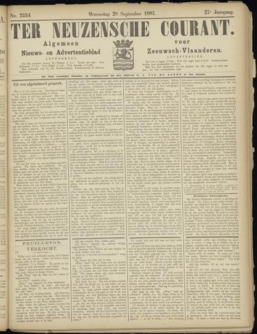 Ter Neuzensche Courant. Algemeen Nieuws- en Advertentieblad voor Zeeuwsch-Vlaanderen / Neuzensche Courant ... (idem) / (Algemeen) nieuws en advertentieblad voor Zeeuwsch-Vlaanderen 1887-09-28