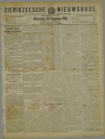 Zierikzeesche Nieuwsbode 1916-08-30
