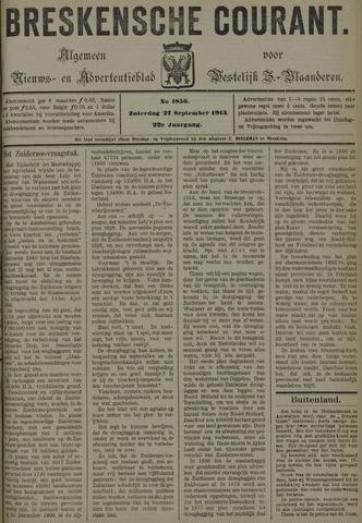 Breskensche Courant 1913-09-27