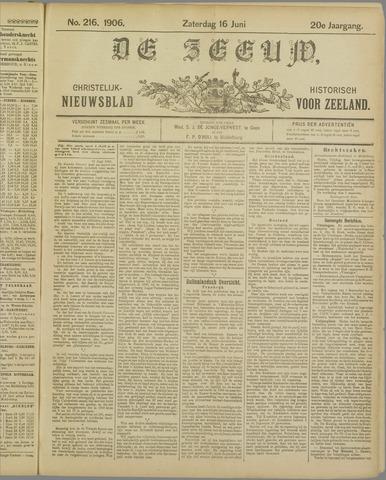De Zeeuw. Christelijk-historisch nieuwsblad voor Zeeland 1906-06-16