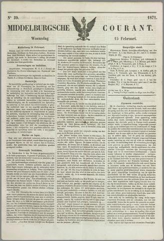 Middelburgsche Courant 1871-02-15