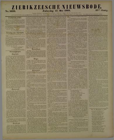 Zierikzeesche Nieuwsbode 1889-05-25