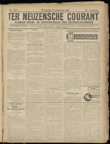 Ter Neuzensche Courant. Algemeen Nieuws- en Advertentieblad voor Zeeuwsch-Vlaanderen / Neuzensche Courant ... (idem) / (Algemeen) nieuws en advertentieblad voor Zeeuwsch-Vlaanderen 1929-08-28