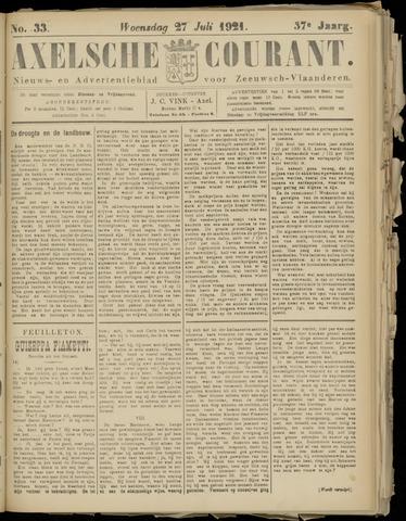 Axelsche Courant 1921-07-27