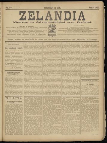 Zelandia. Nieuws-en advertentieblad voor Zeeland | edities: Het Land van Hulst en De Vier Ambachten 1902-07-12