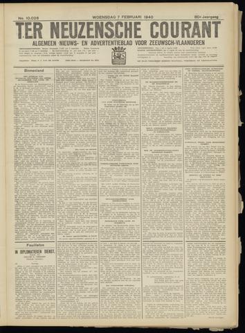 Ter Neuzensche Courant. Algemeen Nieuws- en Advertentieblad voor Zeeuwsch-Vlaanderen / Neuzensche Courant ... (idem) / (Algemeen) nieuws en advertentieblad voor Zeeuwsch-Vlaanderen 1940-02-07