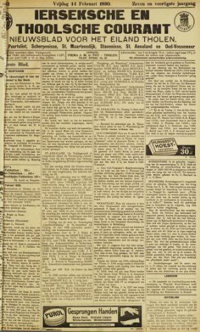 Ierseksche en Thoolsche Courant 1930-02-14