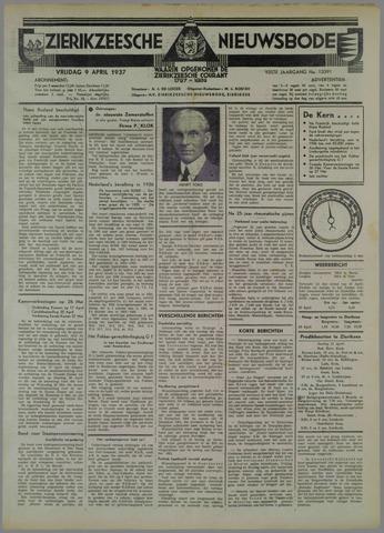 Zierikzeesche Nieuwsbode 1937-04-09