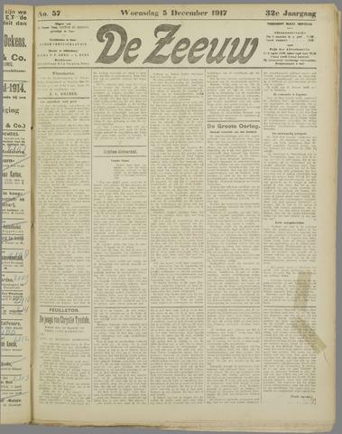 De Zeeuw. Christelijk-historisch nieuwsblad voor Zeeland 1917-12-05
