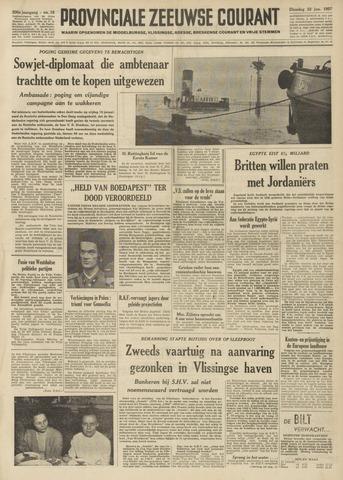 Provinciale Zeeuwse Courant 1957-01-22