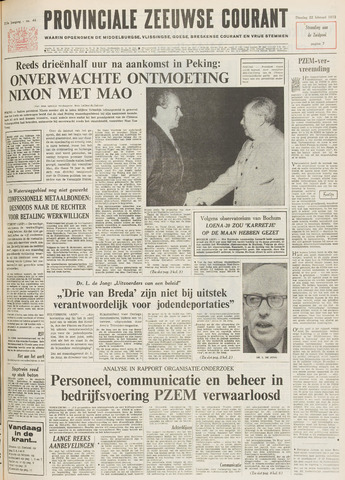 Provinciale Zeeuwse Courant 1972-02-22