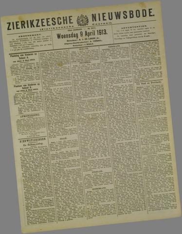 Zierikzeesche Nieuwsbode 1913-04-09