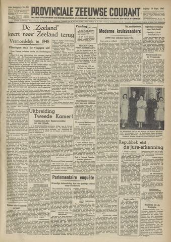 Provinciale Zeeuwse Courant 1947-09-19