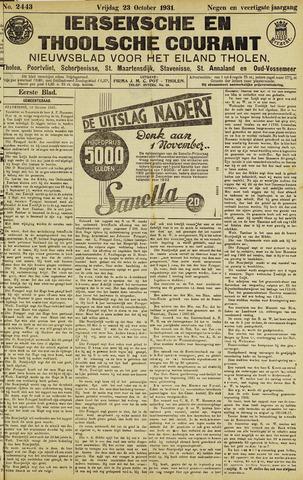 Ierseksche en Thoolsche Courant 1931-10-23