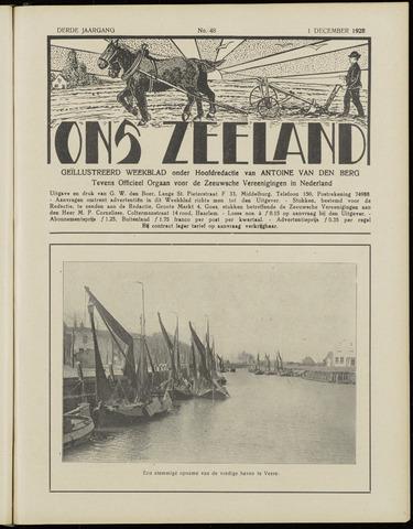 Ons Zeeland / Zeeuwsche editie 1928-12-01