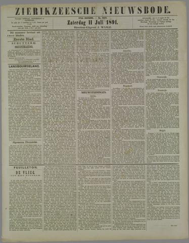 Zierikzeesche Nieuwsbode 1891-07-11
