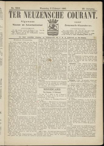 Ter Neuzensche Courant. Algemeen Nieuws- en Advertentieblad voor Zeeuwsch-Vlaanderen / Neuzensche Courant ... (idem) / (Algemeen) nieuws en advertentieblad voor Zeeuwsch-Vlaanderen 1881-02-09