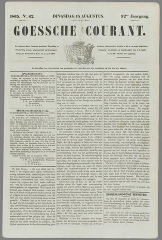 Goessche Courant 1865-08-15