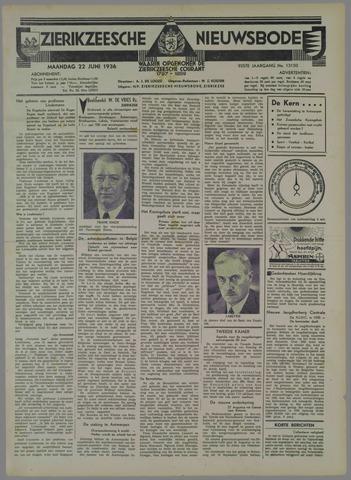 Zierikzeesche Nieuwsbode 1936-06-22