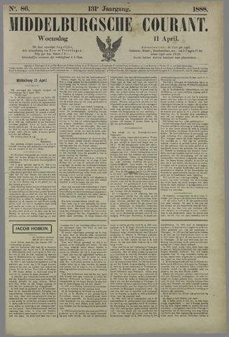 Middelburgsche Courant 1888-04-11