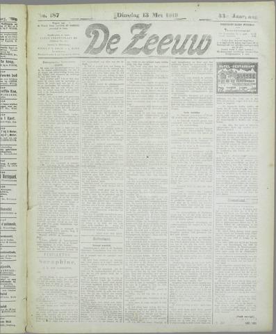 De Zeeuw. Christelijk-historisch nieuwsblad voor Zeeland 1919-05-13