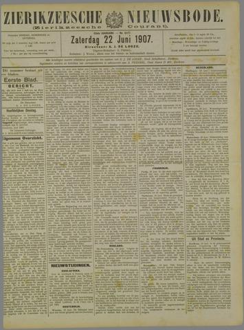 Zierikzeesche Nieuwsbode 1907-06-22