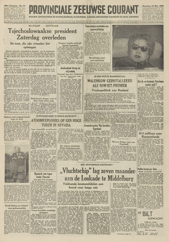 Provinciale Zeeuwse Courant 1953-03-16