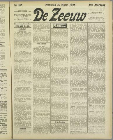 De Zeeuw. Christelijk-historisch nieuwsblad voor Zeeland 1924-03-31