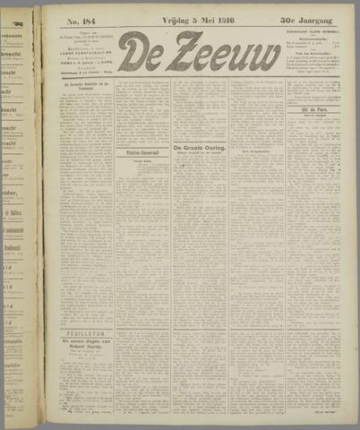 De Zeeuw. Christelijk-historisch nieuwsblad voor Zeeland 1916-05-05