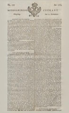 Middelburgsche Courant 1763-11-15