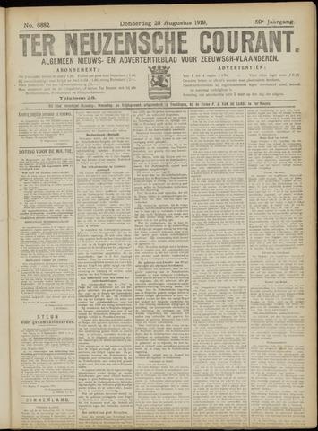Ter Neuzensche Courant. Algemeen Nieuws- en Advertentieblad voor Zeeuwsch-Vlaanderen / Neuzensche Courant ... (idem) / (Algemeen) nieuws en advertentieblad voor Zeeuwsch-Vlaanderen 1919-08-28