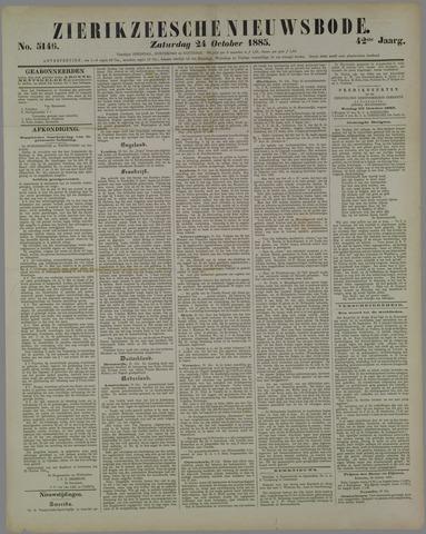 Zierikzeesche Nieuwsbode 1885-10-24