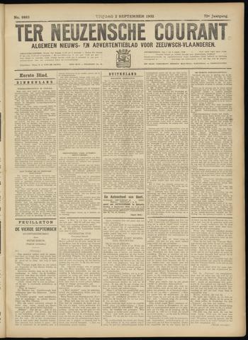 Ter Neuzensche Courant. Algemeen Nieuws- en Advertentieblad voor Zeeuwsch-Vlaanderen / Neuzensche Courant ... (idem) / (Algemeen) nieuws en advertentieblad voor Zeeuwsch-Vlaanderen 1932-09-02