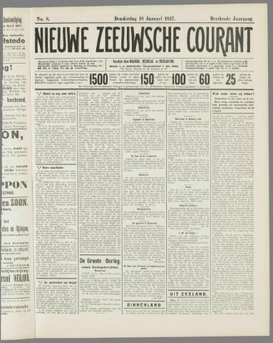 Nieuwe Zeeuwsche Courant 1917-01-18
