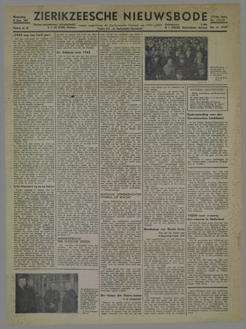 Zierikzeesche Nieuwsbode 1944-01-03