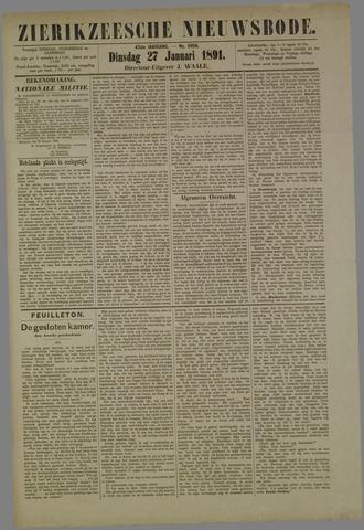 Zierikzeesche Nieuwsbode 1891-01-27