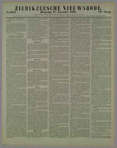 Zierikzeesche Nieuwsbode 1888-11-27