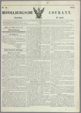 Middelburgsche Courant 1855-04-28