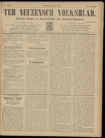 Ter Neuzensch Volksblad. Vrijzinnig nieuws- en advertentieblad voor Zeeuwsch- Vlaanderen / Zeeuwsch Nieuwsblad. Nieuws- en advertentieblad voor Zeeland 1914-06-10