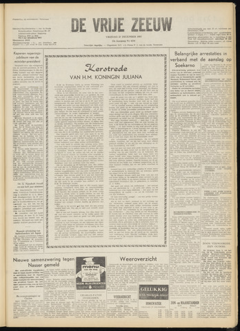 de Vrije Zeeuw 1957-12-27