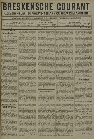 Breskensche Courant 1919-11-22