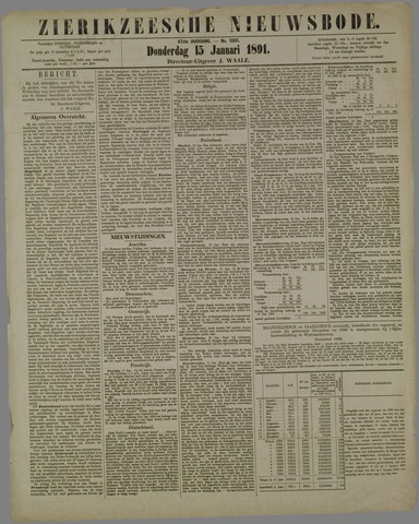 Zierikzeesche Nieuwsbode 1891-01-15