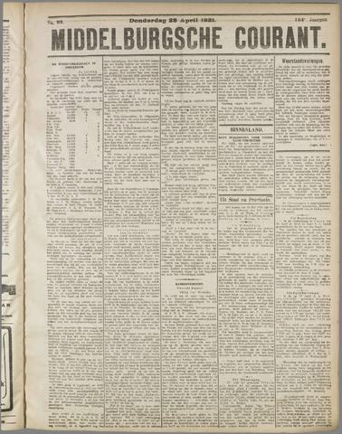 Middelburgsche Courant 1921-04-28