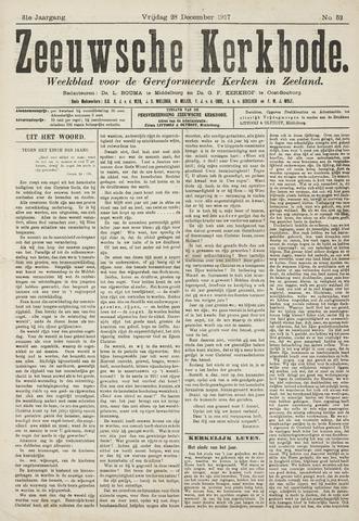 Zeeuwsche kerkbode, weekblad gewijd aan de belangen der gereformeerde kerken/ Zeeuwsch kerkblad 1917-12-28